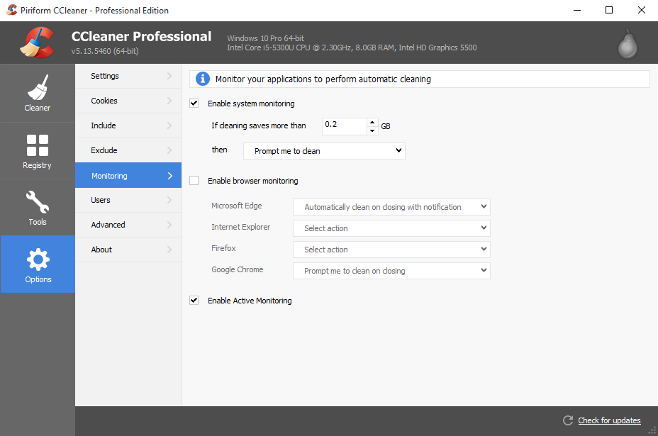 Ccleaner professional for mac free